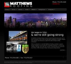Matthews Roofing Website History