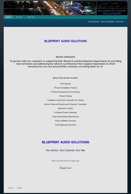 Blueprint audio solutions competitors revenue and employees owler blueprint audio solutions website history malvernweather Choice Image