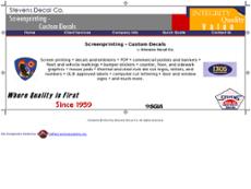 Stevens Decal website history