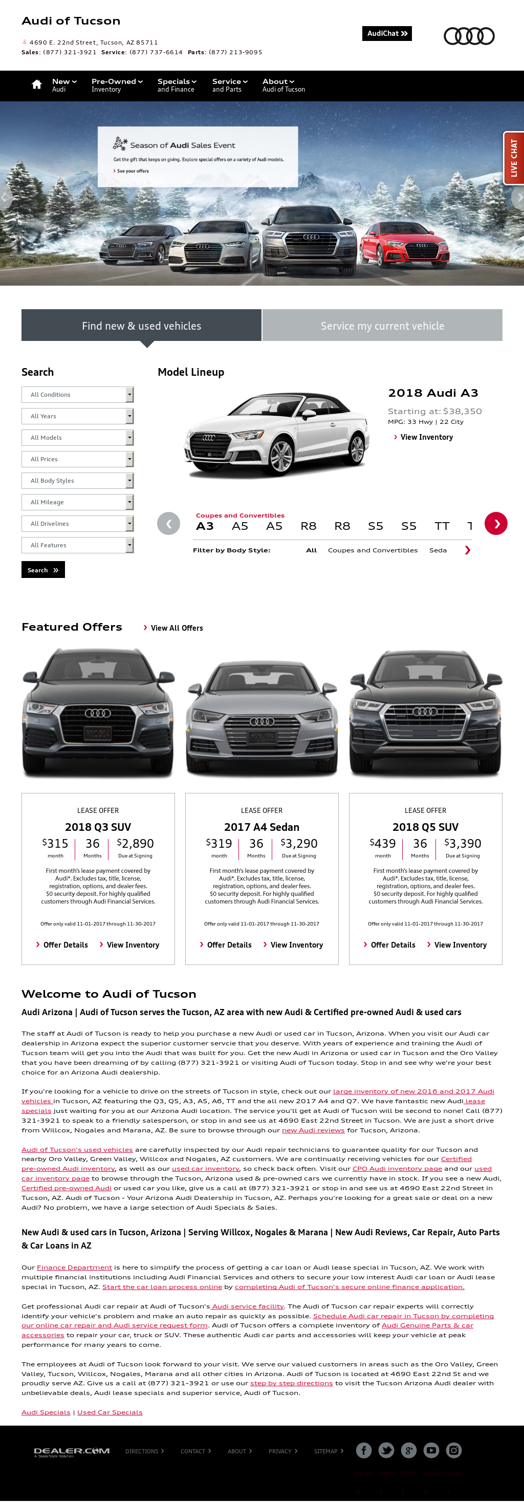 Audi Of Tucson Competitors Revenue And Employees Owler Company - Audi tucson