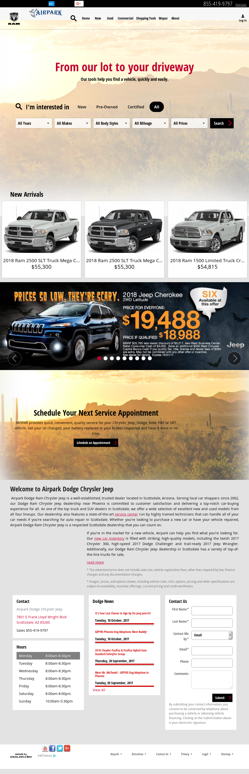 Airpark Chrysler Dodge Jeep petitors Revenue and Employees