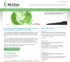 McGhee Productivity Solutions website history
