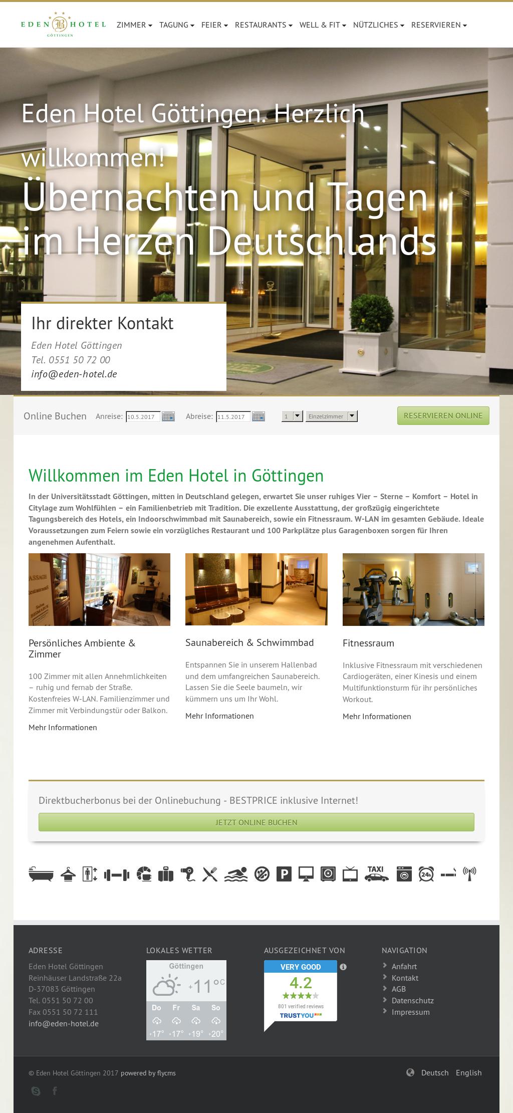 eden hotel goettingen competitors revenue and employees