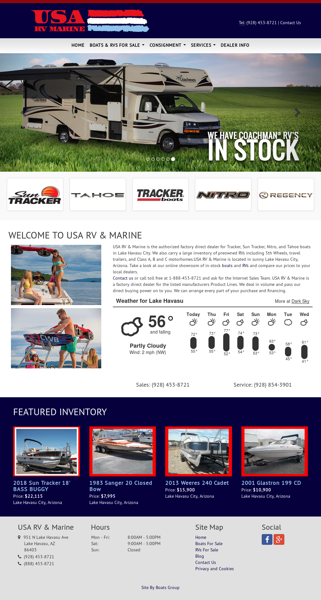 USA RV and Marine website history