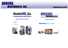Brooke Distributos website history