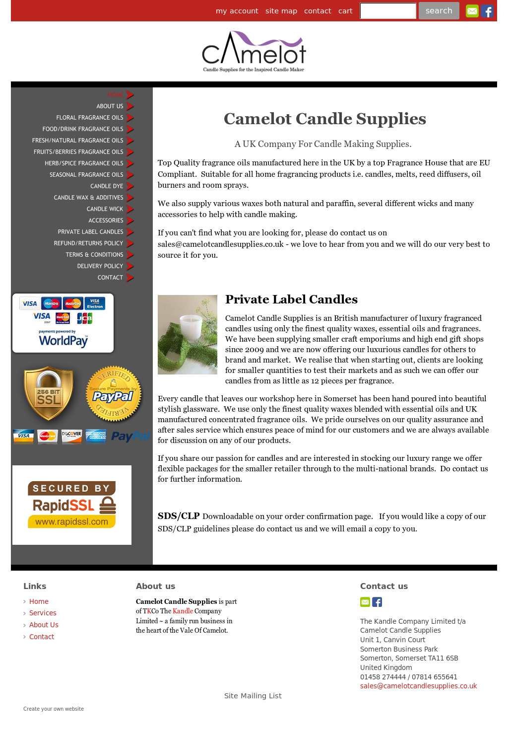 Camelot Candle Supplies Competitors, Revenue and Employees