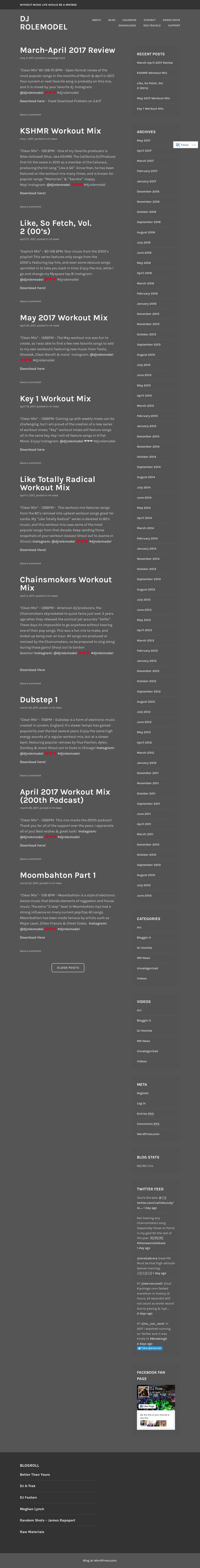 Dj Rolemodel Music Competitors, Revenue and Employees