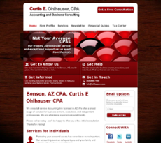 Curtis E Ohlhauser CPA website history