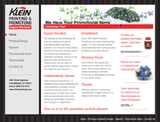 Klein Printing & Promotions website history