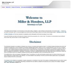 Miller and Hendren website history