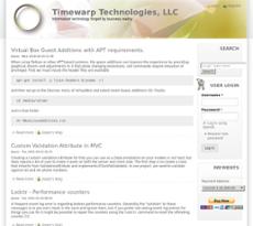 Timewarp Technologies website history