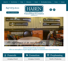 Haben Funeral Home & Crematory website history