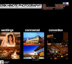Erik Hinote Photography website history
