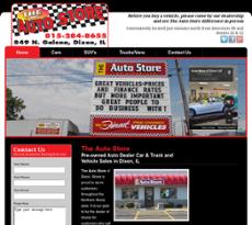 The Auto Store of Dixon website history