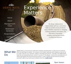 Saddle Butte Pipeline website history