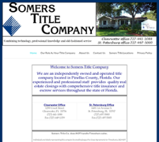 Somers Title website history
