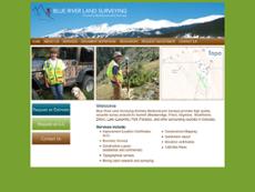 Blue River Land Surveying website history