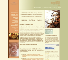 Inspiration Day Spa website history