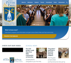 Saints Peter & Paul School website history