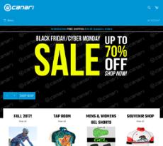 Canari Cyclewear website history