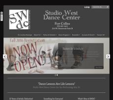 Studio West Dance Center website history