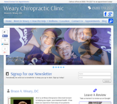 Weary Chiropractic Clinic website history
