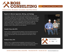 Ross Consulting website history