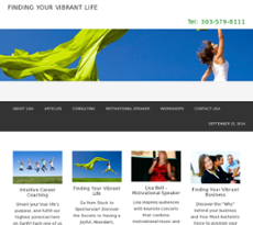 Finding Your Vibrant Life website history
