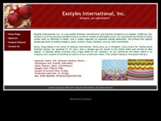 Eastyles International website history