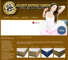 Old West Mattress website history