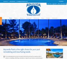 AQUAVIDA POOL SOLUTIONS website history