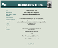 Hospitality4Hire website history