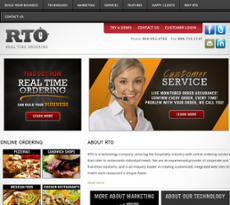 Real Time Ordering website history