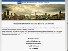 Chesterfield Insurance Services website history