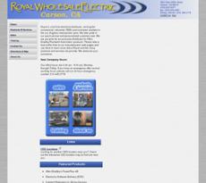 Royal Wholesale website history
