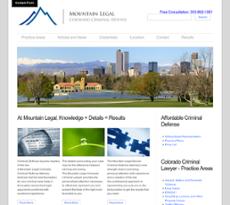 Mountain Legal Colorado Criminal Defense website history