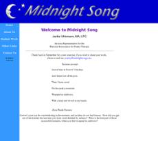Midnight Song website history