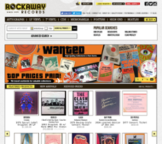 Rockaway Records website history
