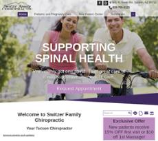 Switzer Family Chiropractic website history