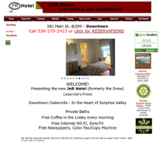 JnR Hotel website history