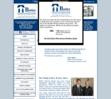 Butler Funeral Homes & Cremation Tribute Center and FuneralNet website history