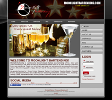 Moonlight Bartending website history