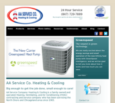 AA Service Co. Heating & Cooling website history