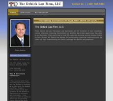 Debick Law Firm website history