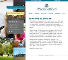 Pauly Group website history