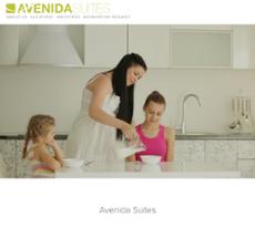 Avenida Suites website history