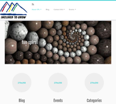 Inclined to Grow website history