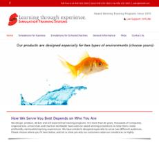 Simulation Training Systems website history