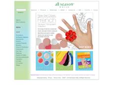 All Season Nails website history