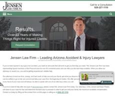 Jensen Law Firm PC website history